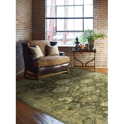 Allenwood Driftwood Hand-Tufted Brown Area Rug Rug Size: 36 x 56