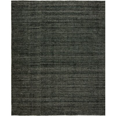 Saulters Hand-Woven Gray Area Rug Rug Size: 76 x 96