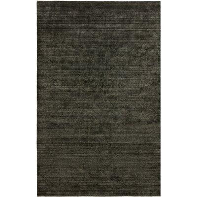 Dona Charcoal Hand-Woven Gray Area Rug Rug Size: 96 x 13