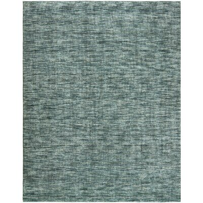 Neva Ocean Waves Hand-Woven Blue Area Rug Rug Size: Runner 26 x 10