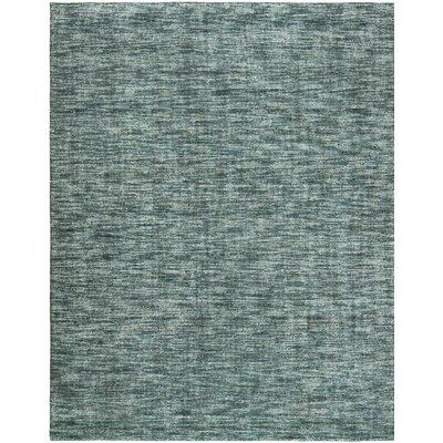 Neva Ocean Waves Hand-Woven Blue Area Rug Rug Size: 56 x 86