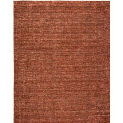 Chelsie Allspice Hand-Woven Rust Area Rug Rug Size: 12 x 15