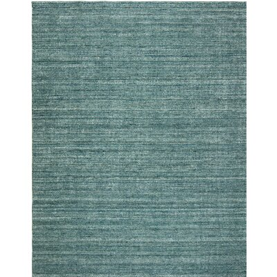 Melisa Cerulean Heather Hand-Woven Blue Area Rug Rug Size: 76 x 96