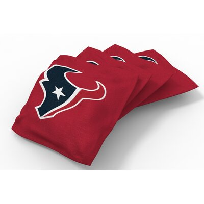 NFL Bean Bag Set NFL Team: Houston Texans Battle Red