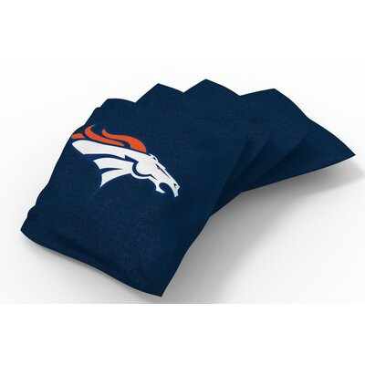 NFL Bean Bag Set NFL Team: Denver Broncos Navy Blue