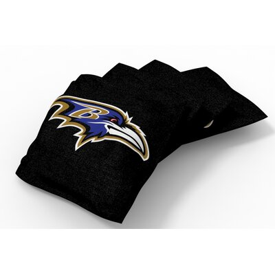 NFL Bean Bag Set NFL Team: Baltimore Ravens Black/Metallic Gold