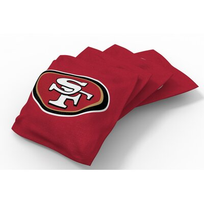 NFL Bean Bag Set NFL Team: San Francisco 49ers Red