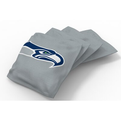 NFL Bean Bag Set NFL Team: Seattle Seahawks Wolf Gray