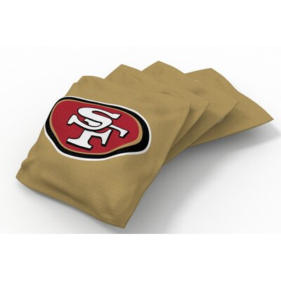 NFL Bean Bag Set NFL Team: San Francisco 49ers Gold