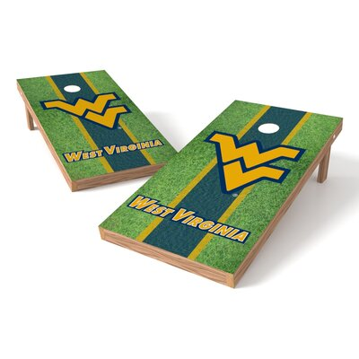 NCAA Hardwood College West Virginia Mountaineer Cornhole Game Set XLS1C-WVU-3