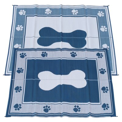 Puppy Paws Doormat Rug Size: 6 x 9, Color: Blue