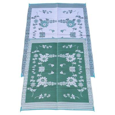 Garden Floral Doormat Rug Size: 6 x 9, Color: Green