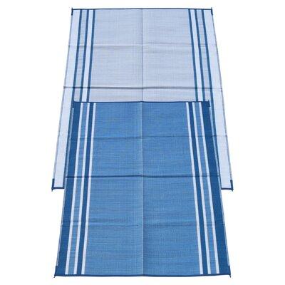 Stripe Doormat Rug Size: 6 x 9, Color: Haw Blue