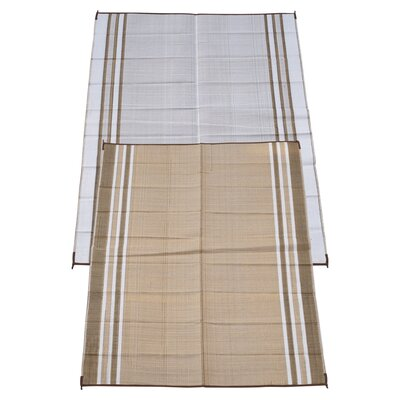 Stripe Doormat Rug Size: 6 x 9, Color: Mush Beige
