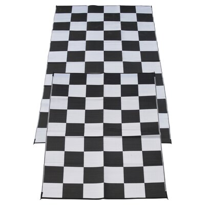 Racing Checkered Flag Doormat Rug Size: 6 x 9