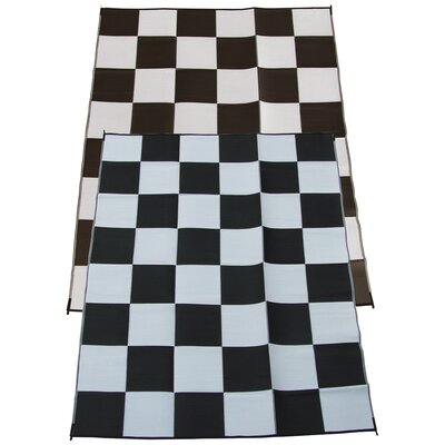 Racing Checkered Flag Doormat Rug Size: 9 x 12