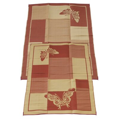 Elegant Butterfly Doormat Rug Size: 9 x 12