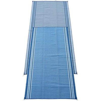 Stripe Doormat Color: Haw Blue, Rug Size: Runner 9 x 18