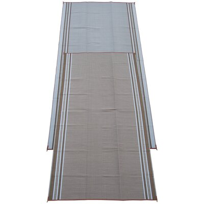 Stripe Doormat Color: Mush Beige, Rug Size: Runner 9 x 18
