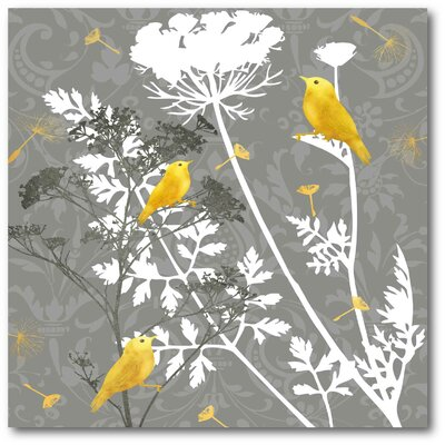 Finch I Graphic Art On Wrapped Canvas