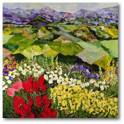 High Mountain Patch Painting Print on Wrapped Canvas