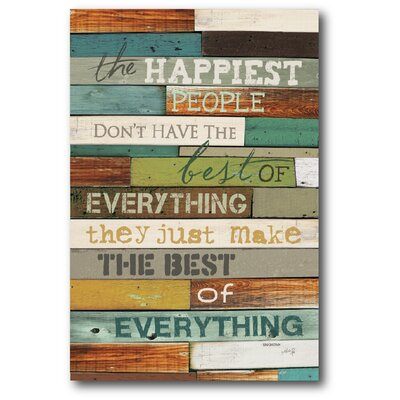 Farmhouse Canvas The Happiest Textual Art On Wrapped Canvas