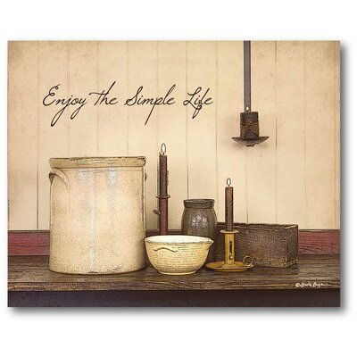 Farmhouse Canvas The Simple Life Graphic Art On Wrapped Canvas