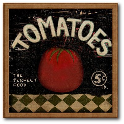 Farmhouse Canvas Tomatoes Graphic Art On Wrapped Canvas