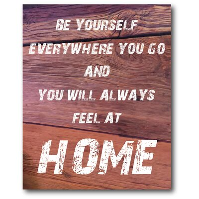 Feeling At Home Textual Art On Canvas