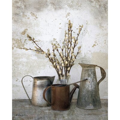 Farmhouse Canvas Three Watering Cans Graphic Art on Wrapped Canvas
