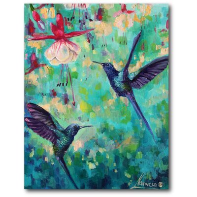 'Love Bird' Painting Print on Wrapped Canvas