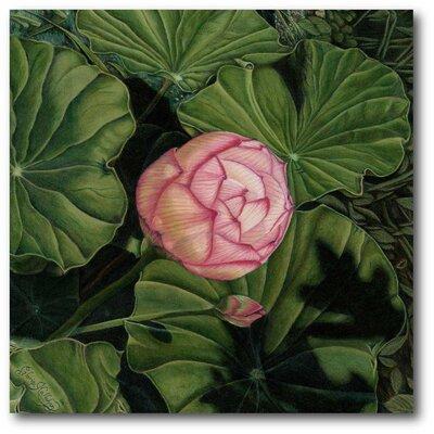 'Enchanting Lotus' Painting Print on Canvas
