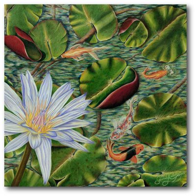 'Enchanting Lily' Painting Print on Canvas