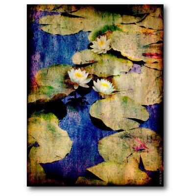 'Lily Ponds Blue' Painting Print on Canvas