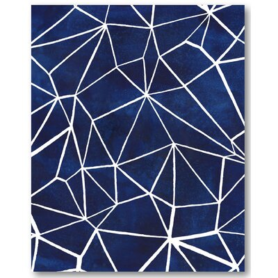 'Indigo Pattern III' Graphic Art Print on Wrapped Canvas