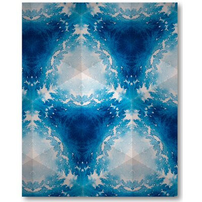 'Sapphire Frost III' Graphic Art Print on Wrapped Canvas