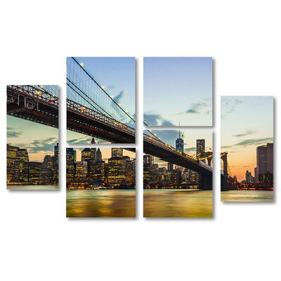 'To the NYC City' Graphic Art Print Multi-Piece Image on Canvas