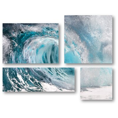 'Oceans Furie' Graphic Art Print Multi-Piece Image on Canvas
