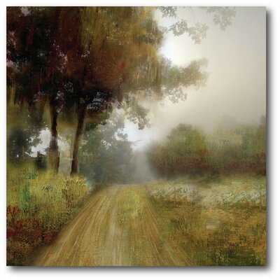 'Country Road Oil' Framed Painting Print on Canvas