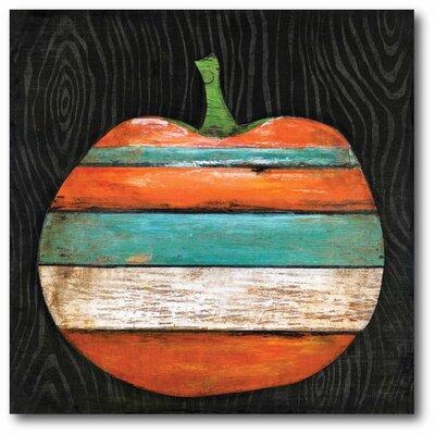 'Striped Pumpkin' Graphic Art Print on Canvas