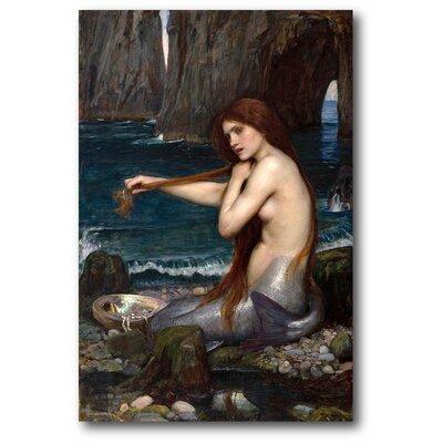 'John William Waterhouse a Mermaid' Graphic Art Print on Wrapped Canvas