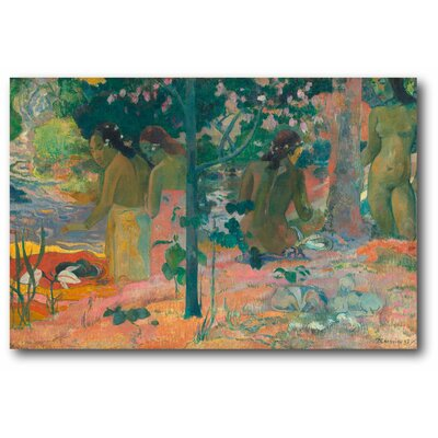 'Paul Gauguin the Bathers' Print on Wrapped Canvas
