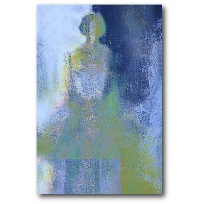 'Blue Ballerina' Graphic Art Print on Wrapped Canvas