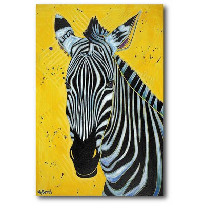 'Zebra' Print on Canvas