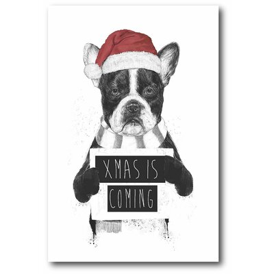 'Xmas is Coming' Print on Canvas