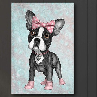 'Sweet Frenchie' Graphic Art Print on Canvas