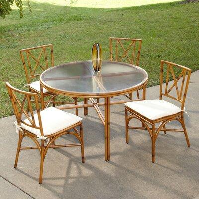 Bimini Jim 5 Piece Dining Set Size: 48 Table, Finish: Light Natural