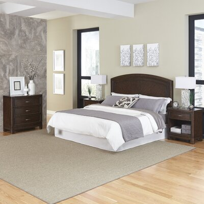 Crescent Hill Panel 4 Piece Bedroom Set Size: King