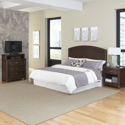 Crescent Hill Panel 3 Piece Bedroom Set Size: King