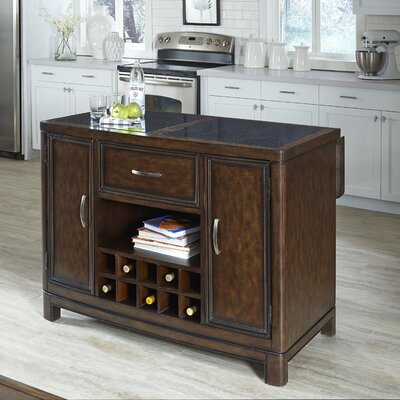 Crescent Hill Kitchen Island with Granite Top